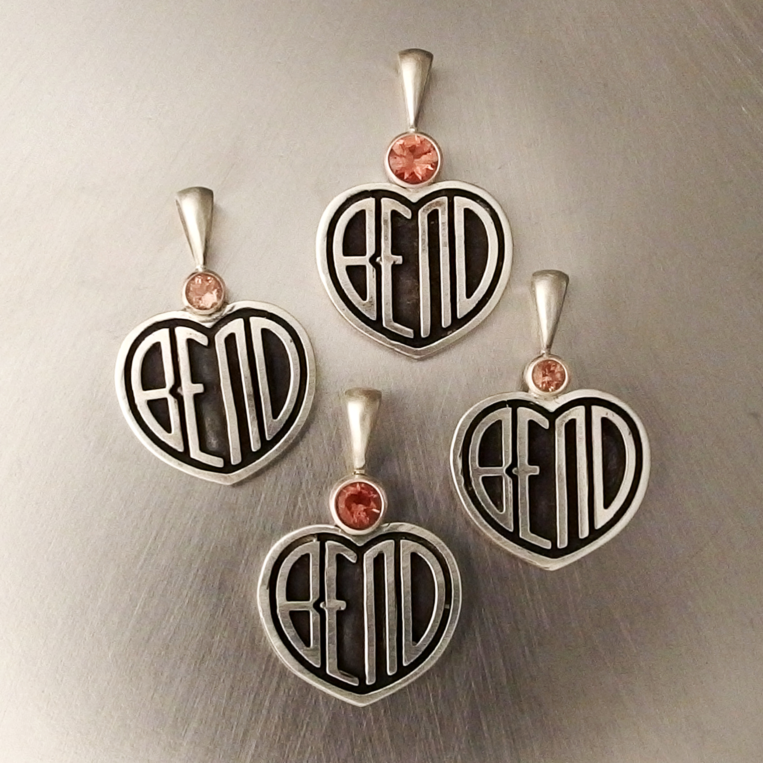 I Love Bend Pendant with Sunstone