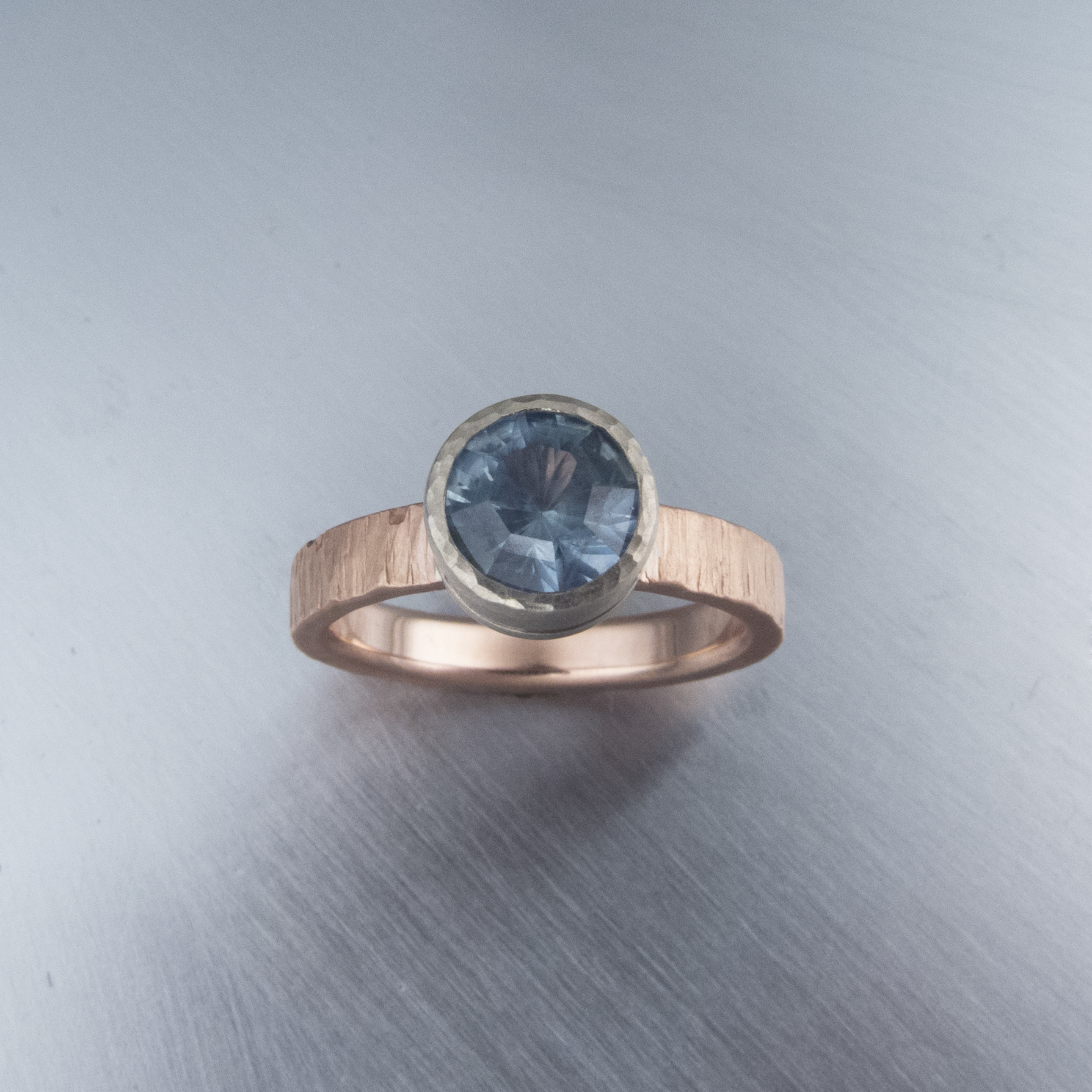 Rose Gold Montana Sapphire Ring