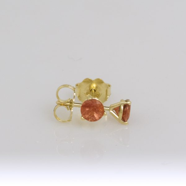 Gold Sunstone Studs- 4mm Sunset