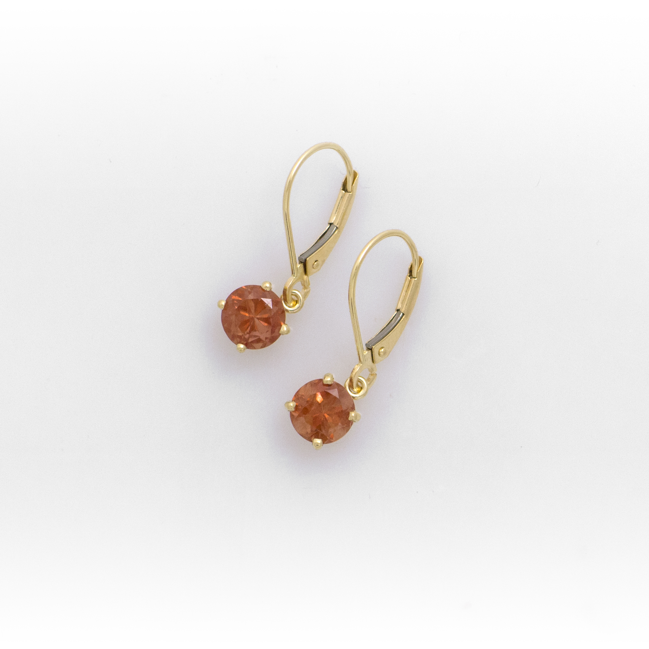Gold Sunstone Dangle Earrings
