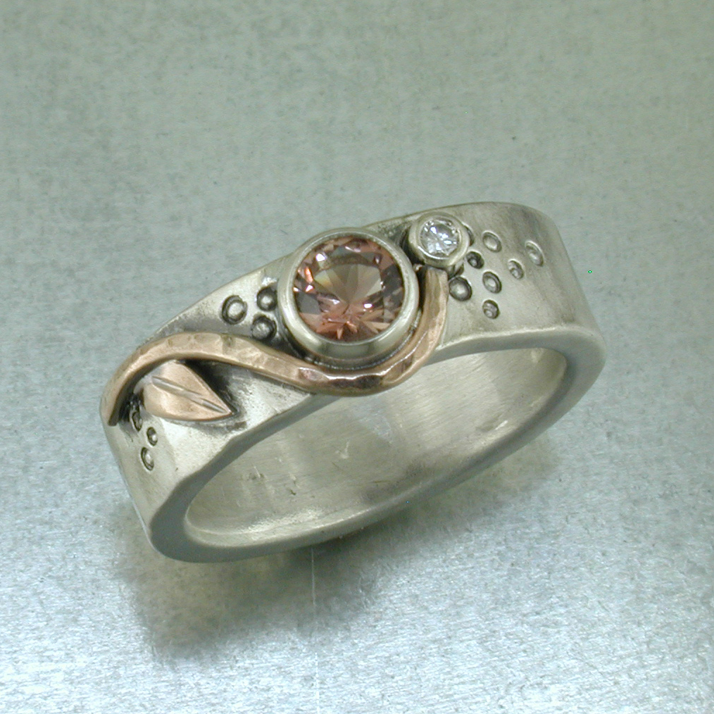 accented ring custom dfjd with stone rings engagement sun sunstone diamonds pin