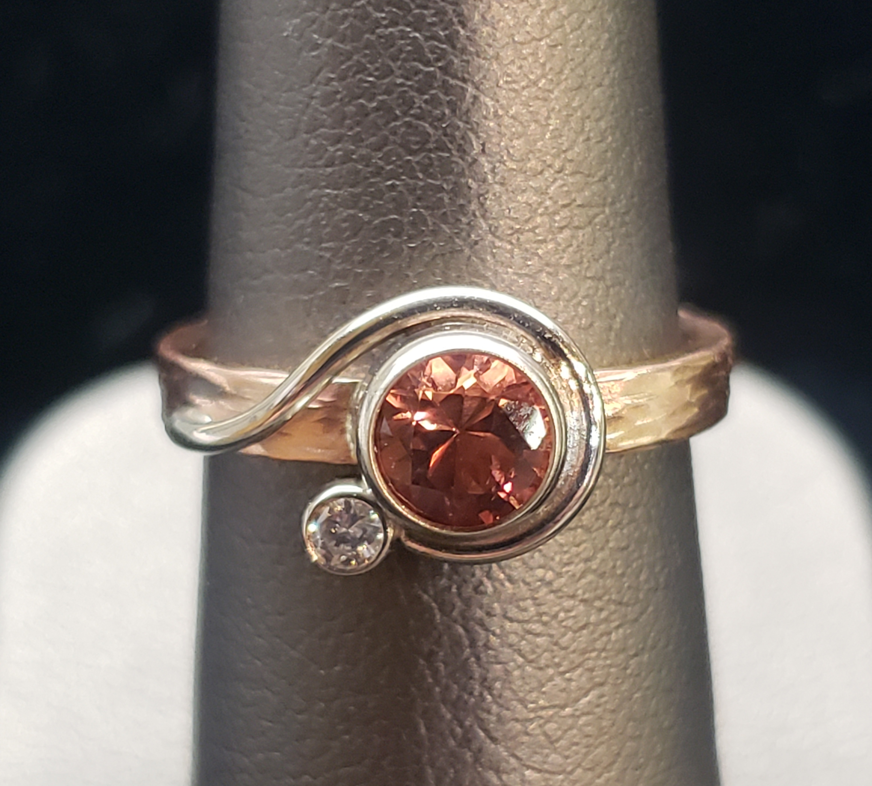 Lasso Bezel Set Sunstone Ring