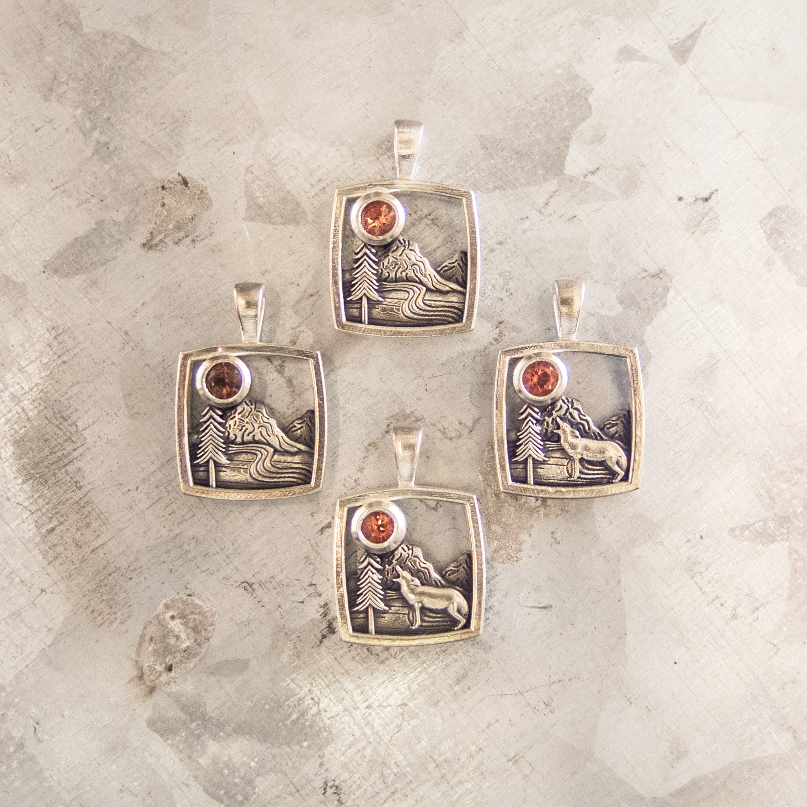 Mountain Home Square Pendants