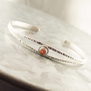 Oregon Sunstone Sterling Split Cuff Bracelet