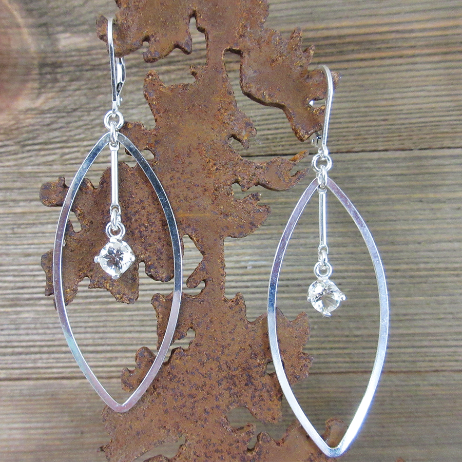 Marquise Bar Dangle Bridal Earrings